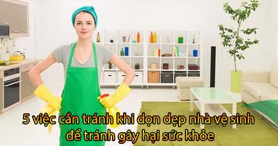 5 việc làm cần tránh khi dọn dẹp nhà vệ sinh để tránh gây hại sức khỏe
