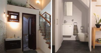 Có nên làm nhà vệ sinh dưới chân cầu thang ?